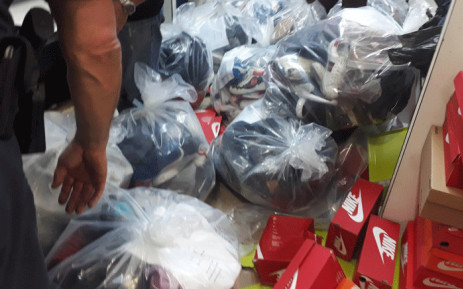 FILE: Counterfeit goods seized by the City of Joburg during overnight raids. Picture: @CityofJoburgZA/Twitter.