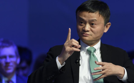 Alibaba Group Founder and Executive Chairman, China's Jack Ma speaks during a panel session on the second day of the World Economic Forum, on January 18, 2017 in Davos. Picture: AFP.
