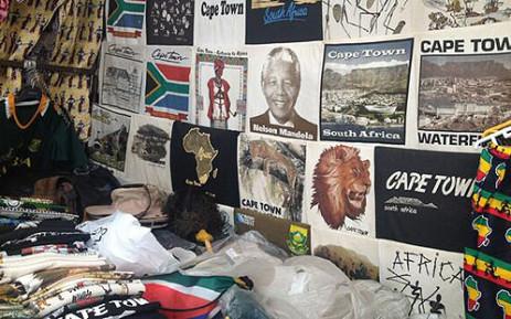 Madiba memorabilia on sale at Greenmarket Square on 1 July 2013. Picture: Giovanna Gerbi/EWN