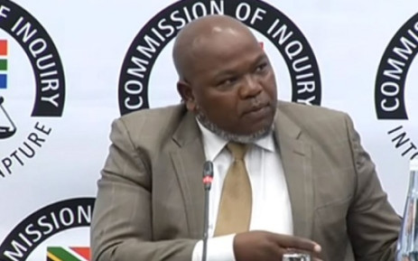 A screengrab of former prosecutions boss Mxolisi Nxasana giving testimony at the Zondo commission of inquiry on 19 August 2019. Picture: SABC Digital News/Youtube