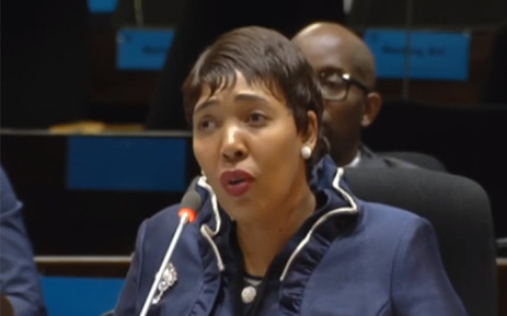 A screengrab of former IT boss at the Public Investment Corporation Vuyokazi Menye testifying at the PIC inquiry on 6 March 2019.