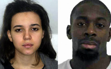 This comabination of images released on 9 January, 2015 by the French police shows Hayat Boumeddiene (L) and Amedy Coulibaly (R), suspected of being involved in the killing of a policewoman in Montrouge on 8 January. Picture: AFP.