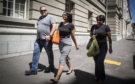 FILE: Zephany Nurse's mother, Celeste, makes her way to the Western Cape High Court. Picture: Thomas Holder/EWN.