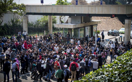 Students shut down Wits campus after Minister of Higher Education Blade Nzimande failed to deliver a free tertiary education policy. Picture: Thomas Holder/EWN.
