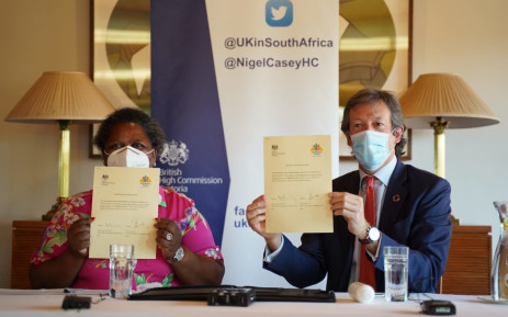On Monday, 14 September 2020 The government of the United Kingdom provided the Solidarity Fund with a R50 million grant focused on supporting, protecting and uplifting the women of SA. Picture: Twitter/@SolidarityRSA