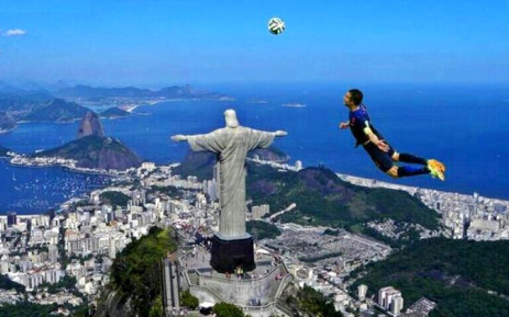 In a World Cup-related meme, 'Flying Dutchman' Robin van Persie flies of the statue Christ the Redeemer in Rio de Janeiro, Brazil, referencing his diving header goal against Spain from 13 June 2014. Picture: Twitter.