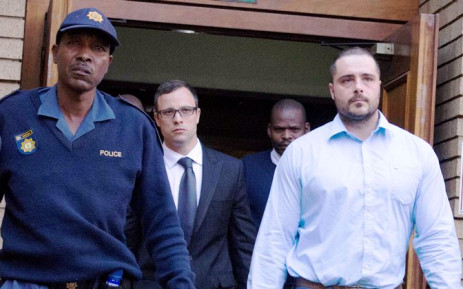 Oscar Pistorius leaves the North Gauteng High Court in Pretoria on 7 August 2014. Picture: Christa Eybers/EWN.