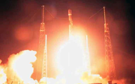 This video grab taken from the Space X webcast transmission on 21 February 2019, shows Nusantara Satu satellite lifting off Space Launch Complex 40 (SLC-40) carrying Israel's Beresheet spacecraft at Cape Canaveral Air Force Station, Florida. Picture: AFP