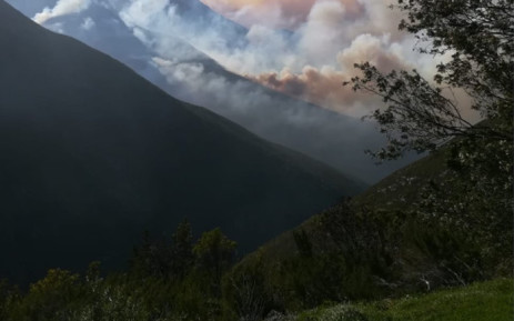 The Outeniqua Pass remained closed on 29 October 2018 until further notice.Picture: @TrafficSA/Twitter