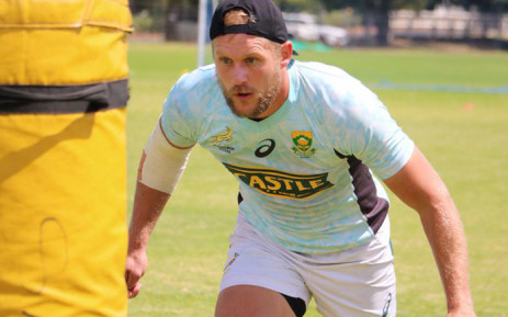 Philip Snyman putting in the hard yards at a Blitzbok training session.Picture: @Blitzboks/Twitter