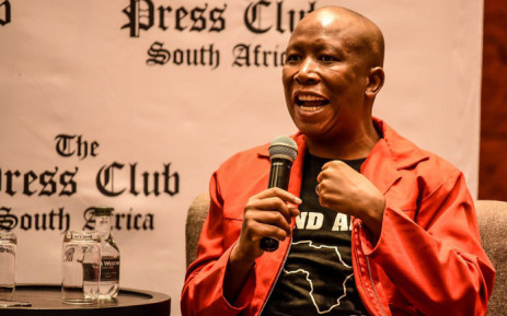 EFF leader Julius Malema addresses the Cape Town Press Club on 14 February 2020. Picture: @EFFSouthAfrica/Twitter