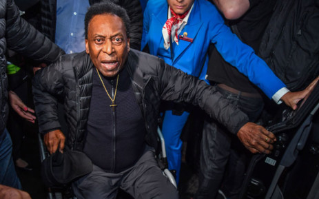 FILE: In this file photo taken on 9 April 2019 Brazilian football great Edson Arantes do Nascimento, known as Pele, arrives at Guarulhos International Airport, in Guarulhos some 25km from Sao Paulo, Brazil. Picture: AFP