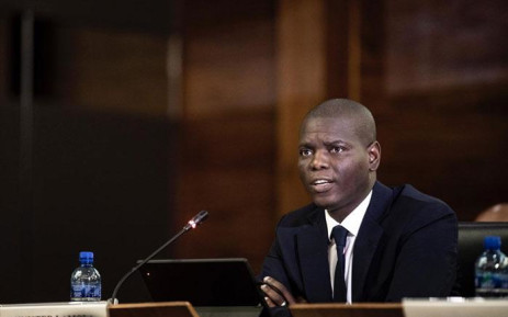 FILE: Justice Minister Ronald Lamola at an inter-ministerial briefing on the coronavirus in Pretoria on 13 March 2020. Picture: Sethembiso Zulu/EWN