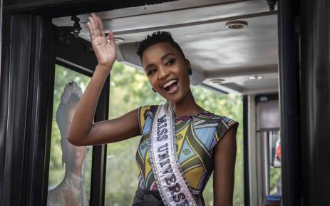 Miss Universe Zozibini Tunzi returns to Johannesburg to continue her homecoming tour. Picture: Abigail Javier/EWN