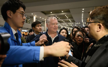 US envoy for North Korea Stephen Biegun (C) arrives at Incheon international airport on 3 February 2019. Picture: AFP