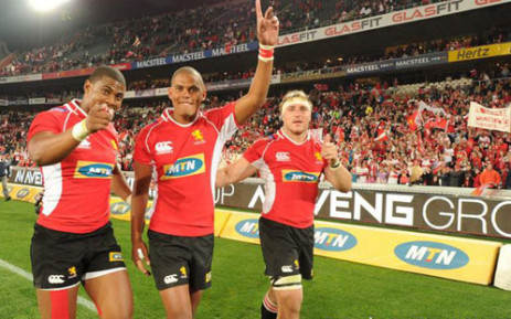 Golden Lions players celebrate with fans. Picture: EWN