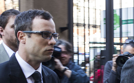 Oscar Pistorius arrives at the High Court in Pretoria on 7 August 2014. Picture: Christa Eybers/EWN.