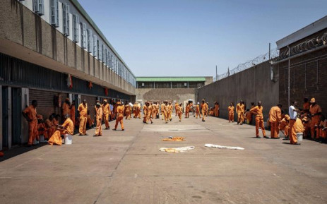 The maximum security yard inside Leeuwkop Correctional Facility. Picture: Thomas Holder/EWN.