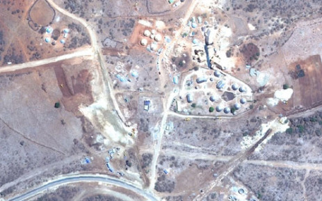 A 2010 aerial view of Nkandla. Picture: Google Earth.