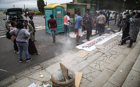 FILE: #RhodesMustFall students protest against a lack of spaces in residences at UCT by erecting a shack on campus. Picture: Thomas Holder/EWN.