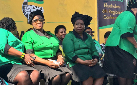 ANCWL president Bathabile Dlamini (left) and Nkosazana Dlamini-Zuma (right) attend the league's umembeso and prayer against women and children rape and killings in Ekurhuleni. Picture: Katleho Sekhotho/EWN