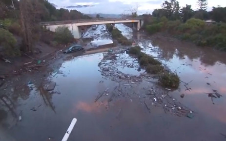 A screengrab of the devastation caused by a mudslide in California on 9 January 2018. Picture: CNN