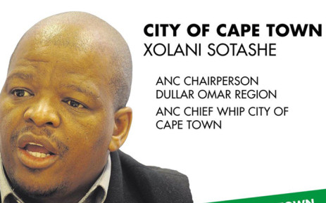 FILE: The ANC's mayoral candidate in Cape Town, Xolani Sotashe. Picture: Supplied.