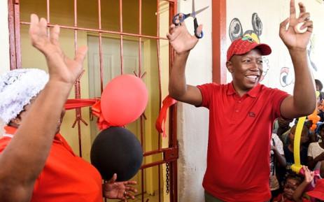 EFF leader Julius Malema celebrates his 38th birthday at Entokozweni Crèche in Orange Farm. Picture: Economic Freedom Fighters.