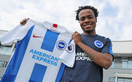 Brighton and Hove Albion have completed the signing of striker Percy Tau from Mamelodi Sundowns on undisclosed terms. Picture: @OfficialBHAFC/Twitter