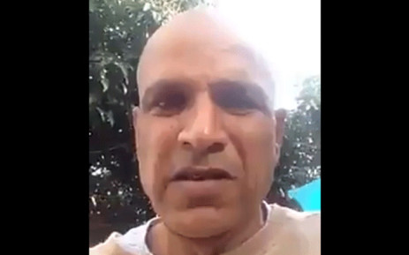 A video screengrab of Kessie Nair, the man who called President Cyril Ramaphosa the K-word.