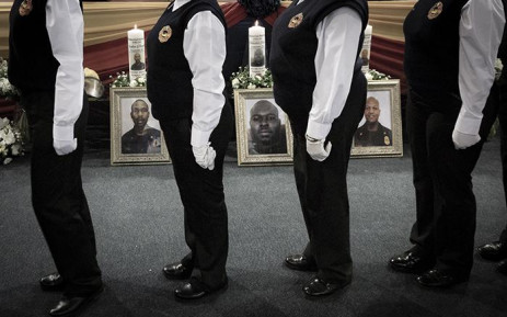Joburg EMS crews honour three firefighters who lost their lives fighting a fire in the CBD on 5 September 2018. Picture: Sethembiso Zulu/EWN
