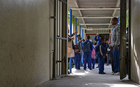 """""""Pupils from St George Primary in Lavender Hill are sent home because of gang violence. Picture: Aletta Gardner/EWN"""