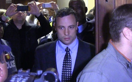 FILE: Oscar Pistorius enters the Pretoria Magistrates Court on 4 June in connection with the death of his girlfriend Reeva Steenkamp. Picture: Christa van der Walt/EWN.