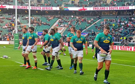 FILE: England beat the Springboks side at Twickenham for their second consecutive win over South Africa in 2018. Picture: @Springboks/Twitter.