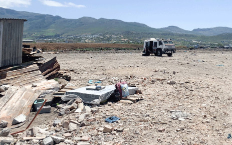 Masiphumelele residents are still waiting for the temporary units that government promised them and even allocated money for them to be built after a fire destroyed their homes in December 2020. Picture: Kaylynn Palm/EWN.