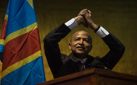 FILE: Moise Katumbi gestures during the launch of his political movement 'Together for Change' on 12 March 2018 at the Misty Hills Country Hotel in Johannesburg. Picture: AFP.