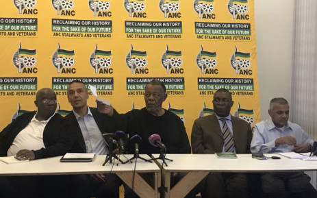 ANC stalwarts give a briefing about the consultative conference next week. Picture: Clement Manyathela/EWN.