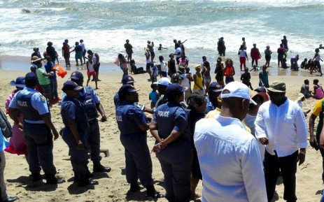 The nation's beaches were packed during the festive season. Picture: @SAPoliceService via Twitter.