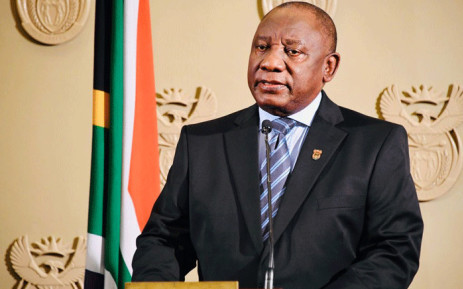 President Cyril Ramaphosa addressing the nation on 11 July 2021. Picture: GCIS.
