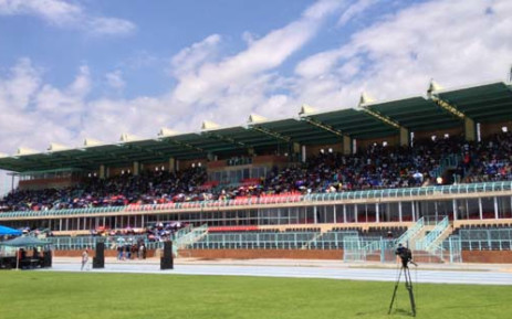 Anglo American Platinum strike leaders spoke at the Olympia stadium in Rustenburg. Picture: Govan Whittles/EWN.