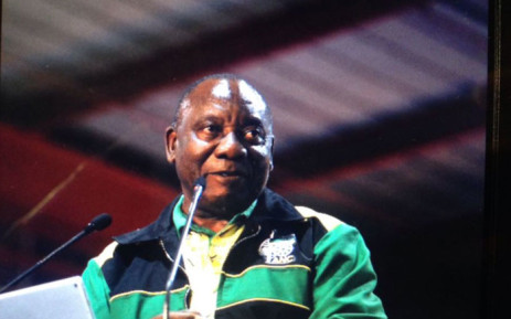 ANC President Cyril Ramaphosa closes the party's 54th national conference at Nasrec, Johannesburg. Picture: EWN