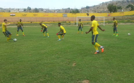Bafana Bafana training session underway at a blazing Benguela. The first session of the day. Picture: Bafana Bafana ‏@BafanaBafana.