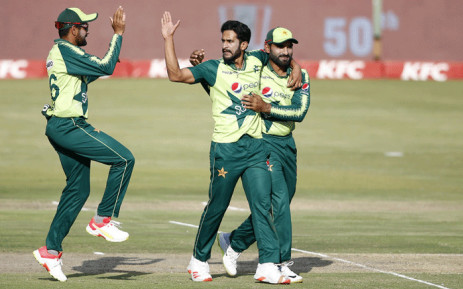 Pakistan bowled South Africa out for 144 in the fourth and final Twenty20 international at SuperSport Park in Centurion on 16 April 2021. Picture: @ICC/Twitter.