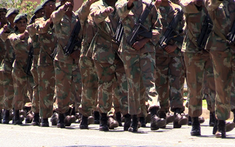 FILE: Members from various SANDF units seen during a march through the streets of Sophiatown, Johannesburg on 9 November 2013. Picture: EWN.