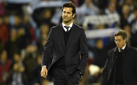 Real Madrid's head coach Santiago Solari. Picture: @realmadriden/Twitter.