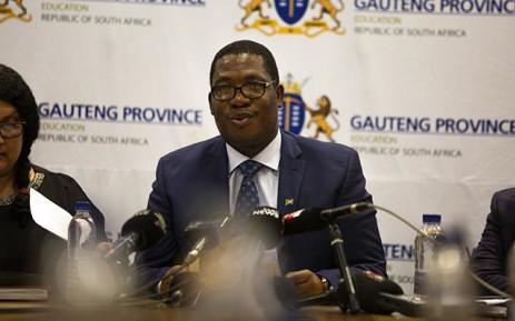 FILE: Gauteng Education MEC Panyaza Lesufi briefs the media on 1 November 2018. Picture: Kayleen Morgan/EWN
