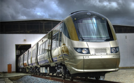 Gautrain on the three-kilometre test track at the depot in Midrand, Johannesburg. Picture: Gautrain/Supplied