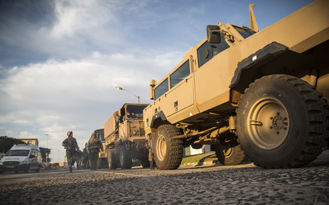 FILE: Army vehicles line a street in Ottery after the completion of a Fiela Operation raid on 22 May 2015. Picture: Thomas Holders/EWN.