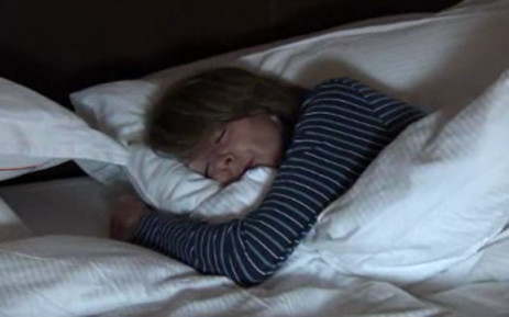 A woman sleeping.  Picture: CNN
