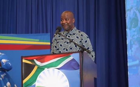 Nelson Mandela Bay Mayor Nqaba Bhanga at the DA's manifesto launch in the municipality on Monday, 04 October 2021. Picture: Nqaba Bhanga/Twitter.